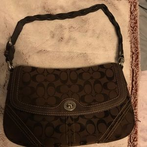 VINTAGE BROWN COACH PURSE